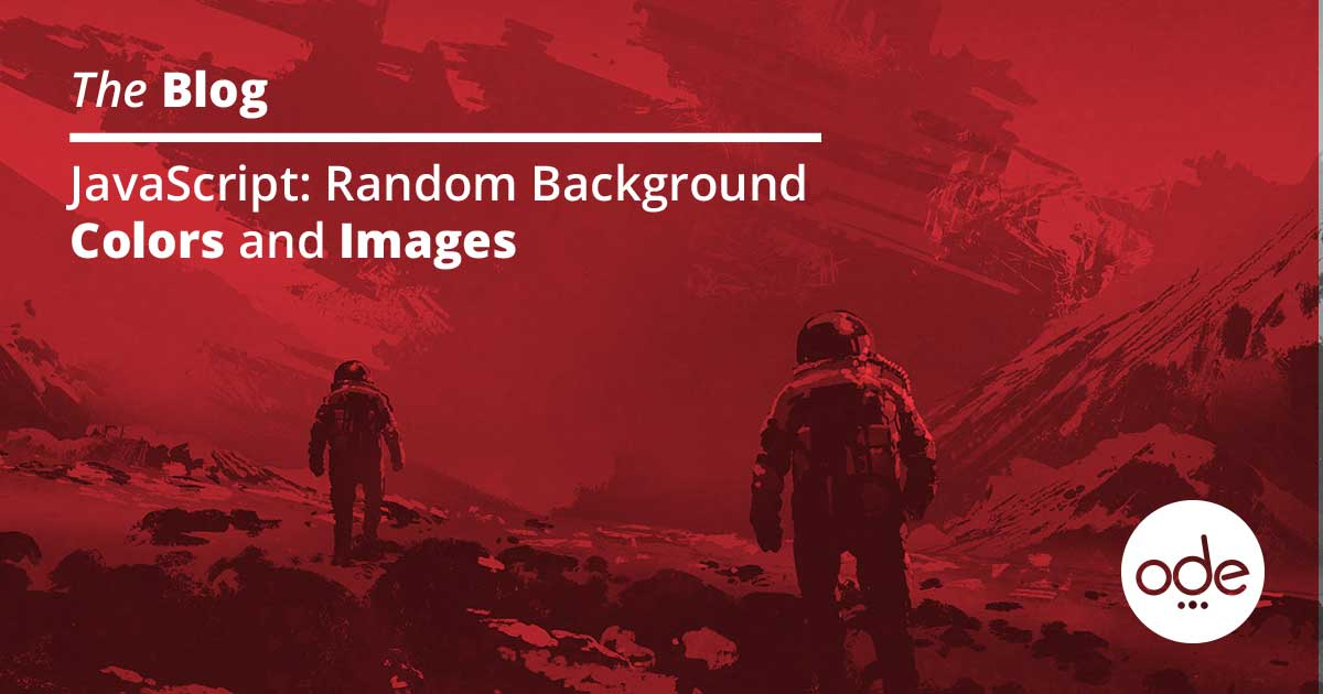 JavaScript: Random Background Colors and Images